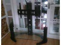 TV display stand & glass shelves