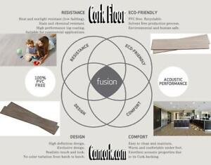 Fusion Floors Stronger While Keeping All Corks Goodies: Walking Comfort, Warmth, Sustainable, Acoustic, Easy Installati