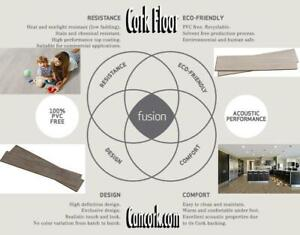 Replace Cold, Hard, Thin Vinyl Flooring with Warm Quiet Durable New Design 10.5 mm Fusion Cork Flooring
