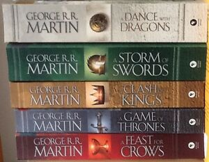 George R.R. Martin - First 5 books in Game of Thrones series.