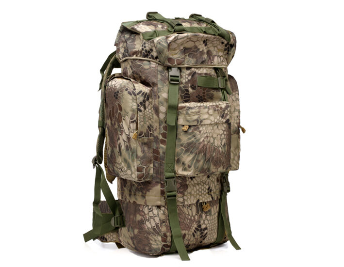 8L/10L/30L/55L/80L Outdoor Military Tactical Camping Hiking Trekking Backpack  80L Green Pythons Grain