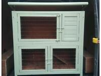 Wooden rabbit hutch shabby chic painted