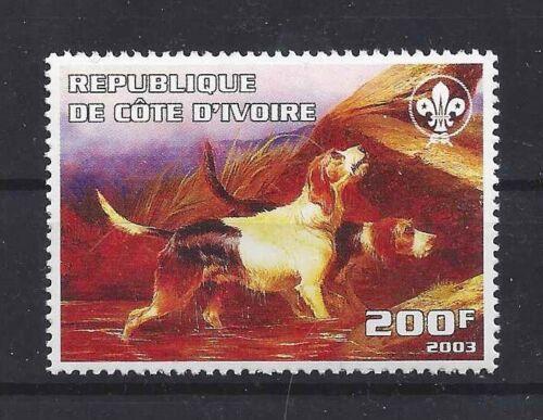 Dog Art Body Portrait Postage Stamp OTTERHOUND OTTER HOUND Cote D