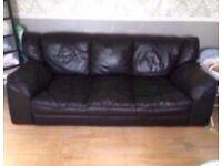 3 seater soft leather sofa