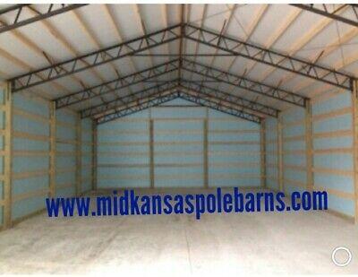 7-40 Steel Trusses Pole Barn For A 40x60 Pole Barn