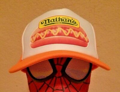 Nathans Famous Hot Dog Hat Concession Stand Sign Food Truck Cart Sticker