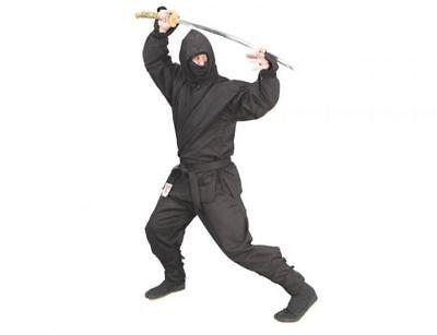 Phoenix Ninja-Anzug, Jinjutsu, schwarz 6-teilig - Kostüm