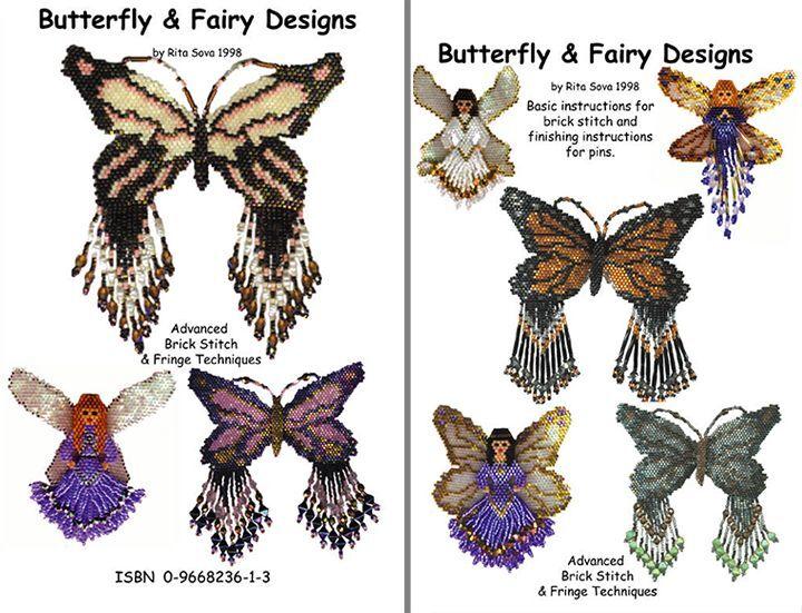 Butterfly & Fairy Designs Bead Pattern Book by Rita Sova, ISBN 09668236-1-3