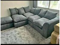 GAIGANTIC OFFER HURRY UP New Dylan Jumbo Cord 3+2 Sofa set & Corner suite Available in colors