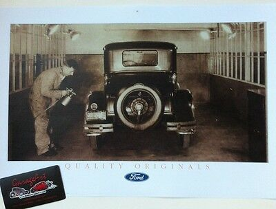 "1930's Ford Paint Booth Reprint 11x17"" Photo Garage Decor"