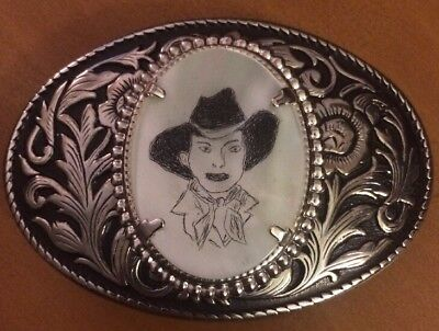 Пряжки Cowgirl Drawing Metal Belt Buckle