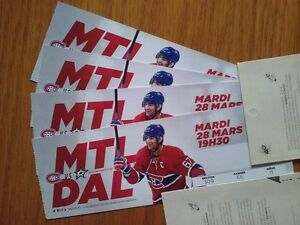 Canadiens vs Dallas 4 billets