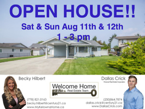 ***OPEN HOUSE - SAT & SUN AUG 11th & 12th   1 - 3pm***