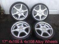 4x100 & 4x108 17 Alloy Wheels