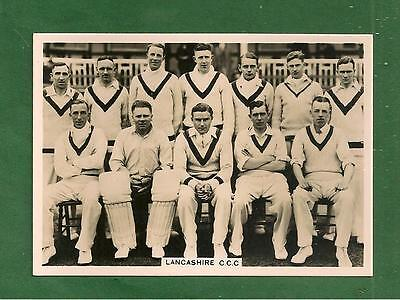 LANCASHIRE COUNTY CRICKET CLUB 1936 Team Photo FULL TEAM NAMED on reverse