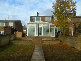 LARGE THREE BEDROOM SEMI DETACHED MATLOCK PROPERTY, WITH STUNNING VIEWS OVER THE DERBYSHIRE DALES