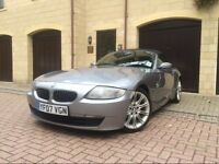 BMW Z4 2.0i sport, 07, grey, cream leather interior, 67,000 miles