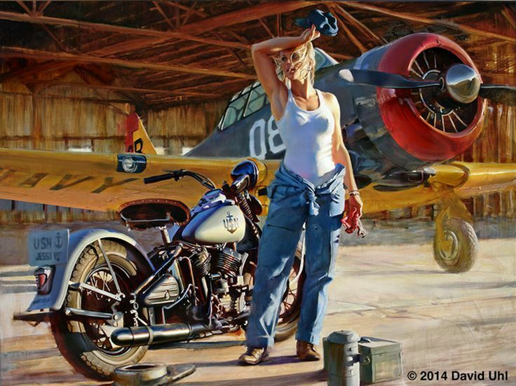 HArley Davidson Motorcycle Airplane  8x10 Picture Celebrity Print