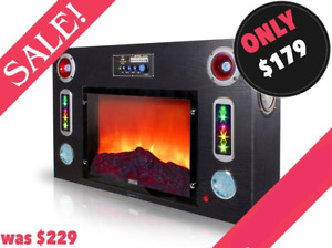 FM Stereo, with Bluetooth, Speakers & Fireplace look!!! JJMusic