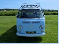 vw Camper. Peter Smith a 1972 T2 Early Bay cross-over in stunning condition.