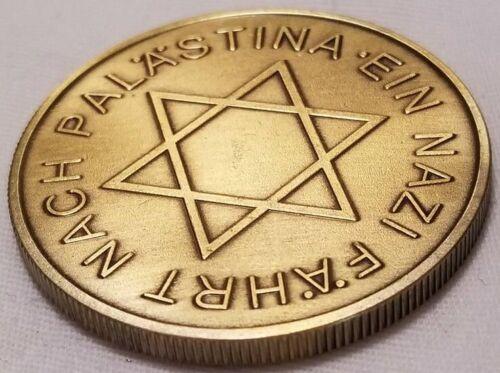 German 1933 Der Angriff Palestine Reich Mark medal medallion token coin bronze