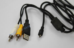 USB+AV CABLE For FUJIFILM J110,J120,J150,J150 W,E323,