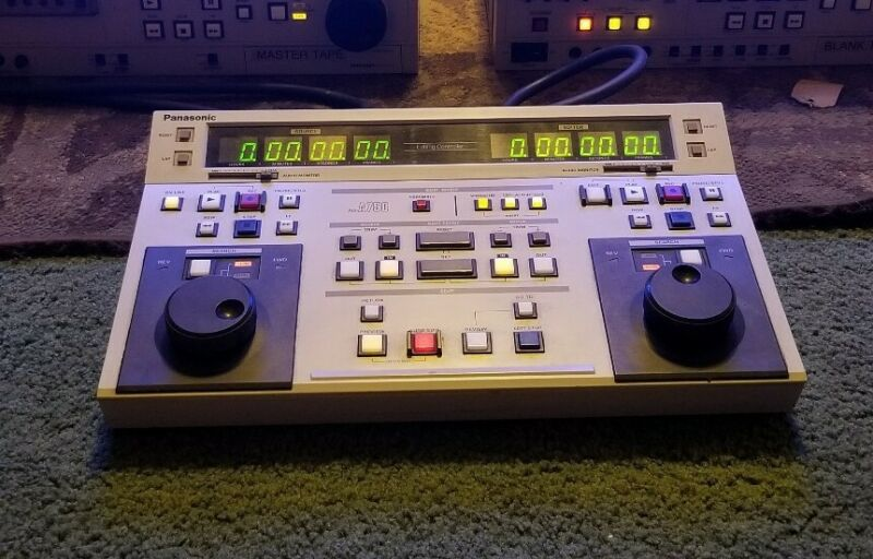 PANASONIC VIDEO EDITING CONTROLLER AG-A750 PULLED WORKING