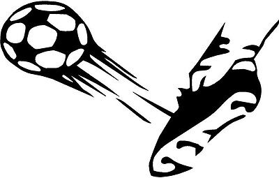 vinyl decal sticker SOCCER BALL KICK SHOE FLYING GOAL FOOTBALL MEN GIRL 843-2 - Girls Kick Balls