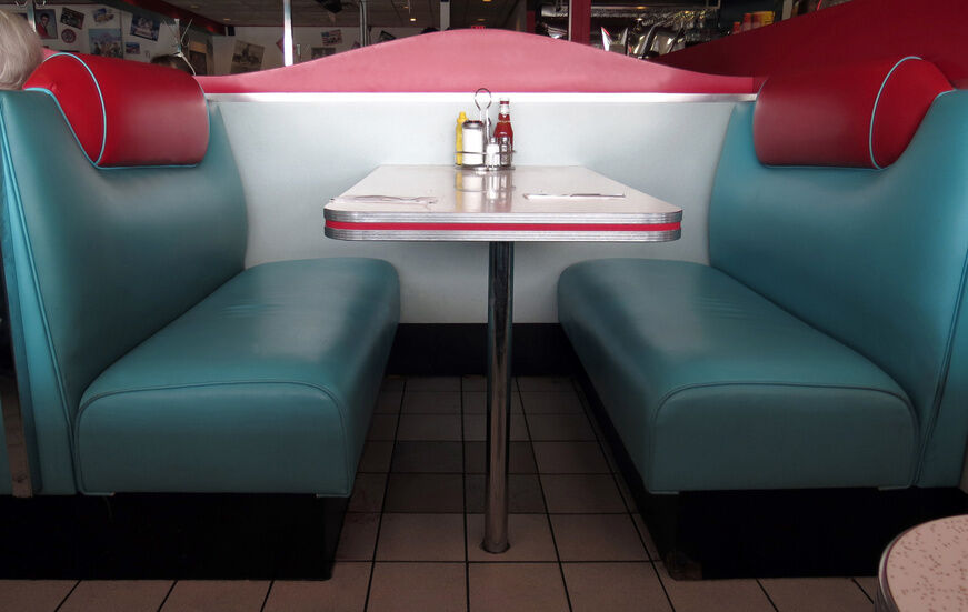 How to build a diner booth ebay for Diner picture
