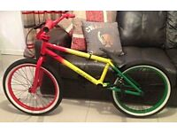 Mafia Stunt Bike, Rasta Style ( wrong bike bought for birthday )
