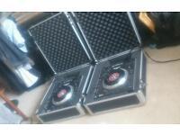 2 x Numark V7 Serato DJ Turntables in Flight Cases - Excellent condition!