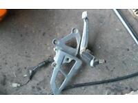 Kawasaki zzr rear set brake side