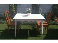 BEAUTIFUL SHABBY CHIC STYLE TABLE AND CHAIRS SET