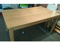 Oak veneered dining table