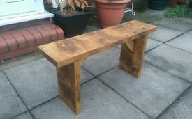 3ft chunky wooden kitchen seating bench rustic new