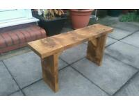 4ft chunky wooden kitchen seating bench rustic new