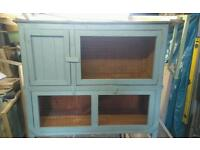Wooden rabbit hutch shabby chic painted new
