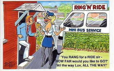 (Lc1003-169) Artist Signed, Ring'n'Ride, Bus Service Unused c1980 EX, Taylor
