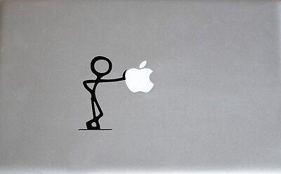 (Stick Figure Leaning Apple Macbook Laptop Air Pro Decal Sticker Skin Vinyl Mac)