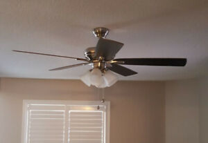 Ceiling fan with 5 lights