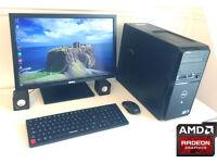 "GAMING PC Custom Made - ATI Radeon HD Graphics - QuadCore i5 3.1GHz - 6Gb Ram - 22"" Monitor - WiFi"