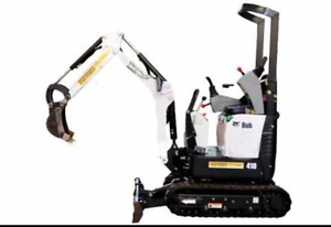 Excator skid steer and tool rentals