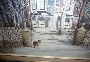 "Toronto Artist Roxann Vivian Smith ""The White House"" Watercolor Stratford Kitchener Area image 10"