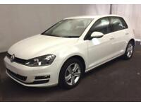 2016 WHITE VW GOLF 1.4 TSI 125 MATCH EDT PETROL 5DR HATCH CAR FINANCE FR £50 PW