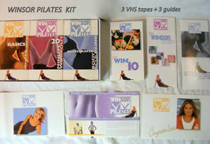 Winsor Pilates VHS tapes complete shaping toning set