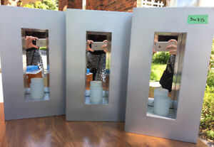 3 mirrored candle holders - stylish