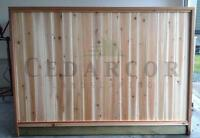 CEDAR FENCE PANELS starting at only $50 a panel!