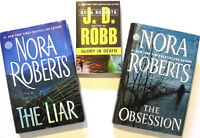 NORA ROBERTS and JD ROBB - 3 Novels – incl. The Obsession, The L