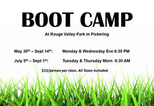 BOOT CAMP Starts Monday in Pickering!