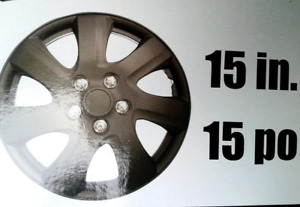 "15"" Wheel Cover set of 4, Black, Brand new in Box."